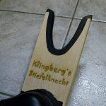 Stiefelknecht mit Gravur - Frank Klingberg - Gravieranstalt Klingberg in München